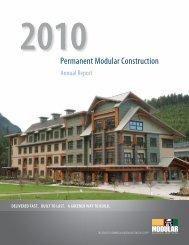 2010 Permanent Modular Construction Annual Report