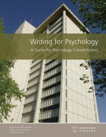 Harvard - Writing for Psychology