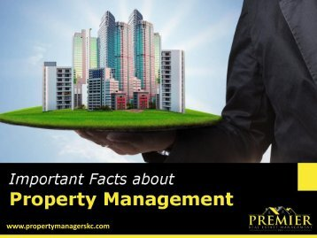 Facts to Know About Property Management Services