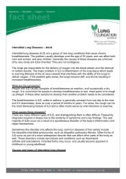 Interstitial Lung Diseases – Adult - Lung Foundation