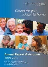 Annual Accounts - Hertfordshire Community NHS Trust