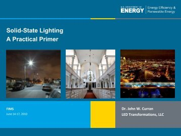 Solid-State Lighting A Practical Primer - FIMS - U.S. Department of ...