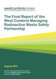 Final Report - West Cumbria MRWS Partnership