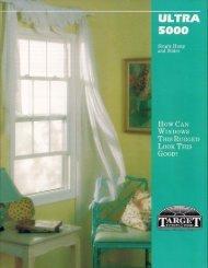 Ultra 5000 Brochure - Target Custom Windows & Doors