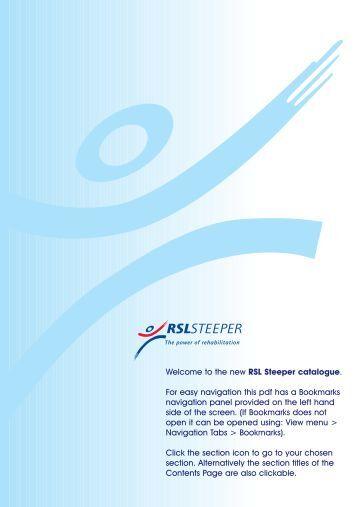 Upper Limb Prosthetic Components Catalogue - R S L Steeper
