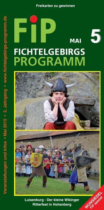 Fichtelgebirgs-Programm - Mai 2015