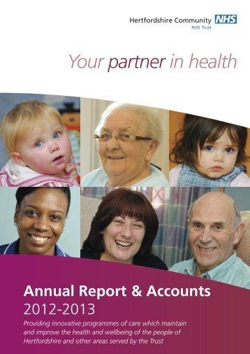 2012-2013 - Hertfordshire Community NHS Trust