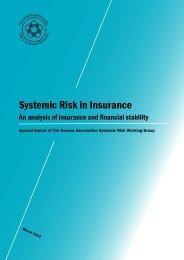 Systemic Risk in Insurance - Graham Bishop.com