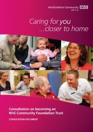 Caring for you ...closer to home - Hertfordshire Community NHS Trust