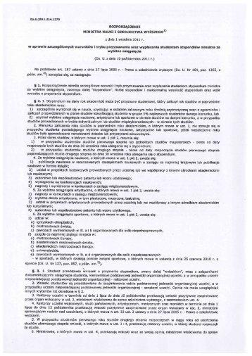 Nowe Rozporządzenie Ministra Nauki i Szkolnictwa Wyższego w ...