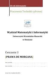 Ćwiczenie nr 03 - Wydział Matematyki i Informatyki UWM w Olsztynie