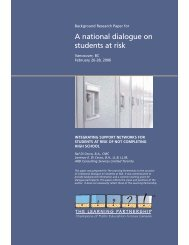 A national dialogue on students at risk