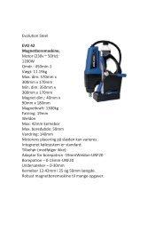 Evolution Steel EVO 42 Magnetboremaskine ... - f.metal-supply.dk