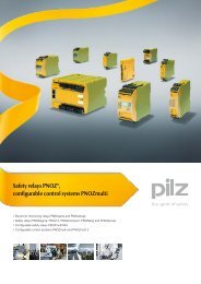 Safety relays PNOZ®, configurable control ... - f.metal-supply.dk
