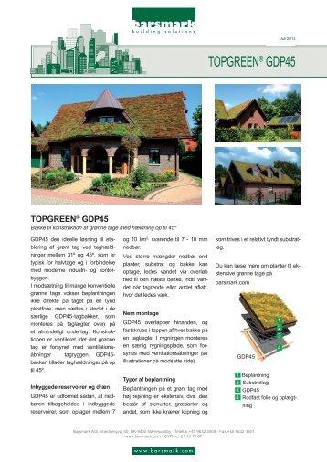 TOPGREEN® GDP45 - Barsmark