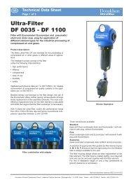Ultra-Filter DF 0035 - DF 1100 - f.metal-supply.dk