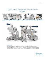 A Quick Look at Medium & High Pressure Solutions - f.metal-supply.dk