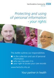Protecting and Using of personal information - your rights leaflet