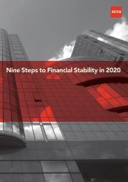 Nine Steps to Financial Stability in 2020 - ACCA