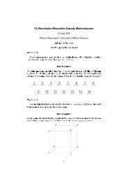 Rozwiązania - Wydział Matematyki i Informatyki UWM w Olsztynie
