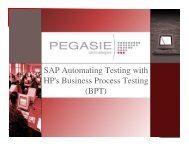 SAP Automating Testing with HP's Business Process ... - Osqa.org