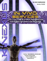 download the In Vivo Cell Culture Customer Info Package - Kinexus ...