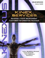 customer information package reverse lysate microarray - Kinexus ...