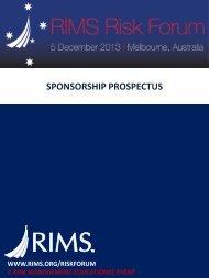 SPONSORSHIP PROSPECTUS - RIMS