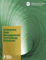 Enterprise Risk Management Technology Solutions Report - RIMS