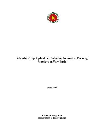 Adaptive Crop Agriculture Including Innovative Farming Practices in ...