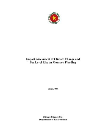 Impact Assessment of Climate Change and Sea Level Rise on ...