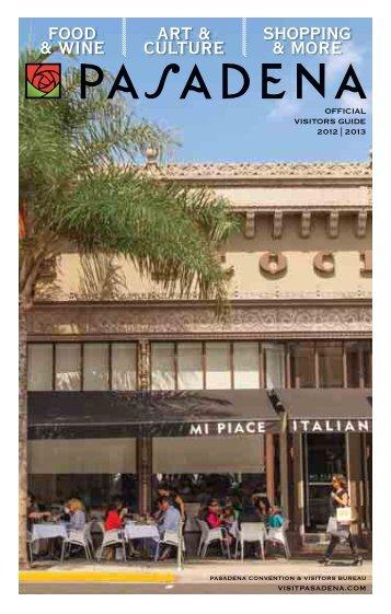 Pasadena Visitor's Guide - Cvent