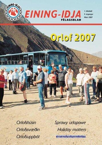 Orlof 2007 Orlof 2007 - Eining-Iðja