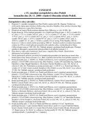 Usnesení z 15. veřejného zasedání zastupitelstva obce - Obec Podolí