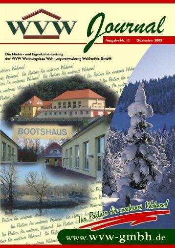 2003/12 - Dezember - WVW Weißenfels GmbH