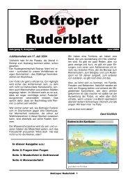 Ruderblatt Ausgabe 07-2004 - Rudergemeinschaft Bottrop e.V.