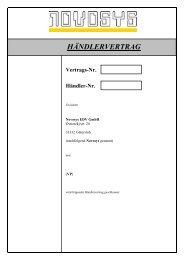 Vertrags-Nr. Händler-Nr. - Novosys EDV GmbH
