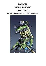"""INVITATION VIENNA NIGHTROW June 29, 2013 on the """"Unteren ..."""