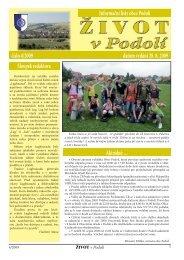 číslo 4/2009 datum vydání 28. 8. 2009 Informační listy ... - Obec Podolí