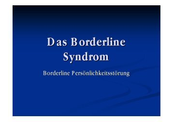 Das Borderline Syndrom