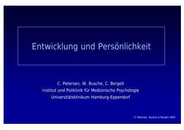 Entwicklung und Persönlichkeit - Institut und Poliklinik für ...