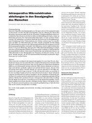 Intraoperative Mikroelektroden- ableitungen in den Basalganglien ...