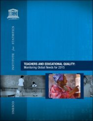 TEACHERS AND EDUCATIONAL QUALITY: Monitoring Global ...