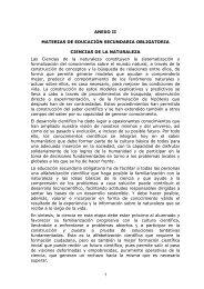 1 ANEXO II MATERIAS DE EDUCACIÓN SECUNDARIA ...