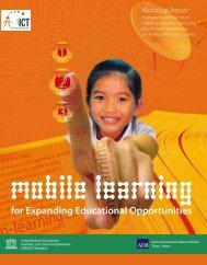 Mobile learning for expanding educational ... - unesdoc - Unesco