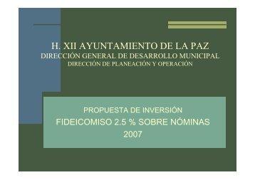 H. XII AYUNTAMIENTO DE LA PAZ - XIV Ayuntamiento de La Paz