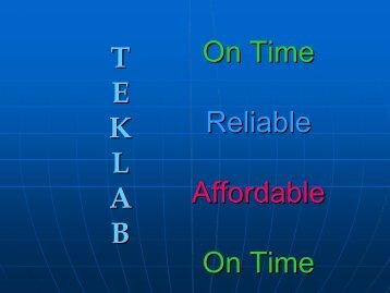 Teklab and your Data (PDF) - Teklab Environmental Testing ...