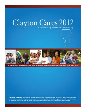 Clayton Cares Directory - Clayton County Board of Health