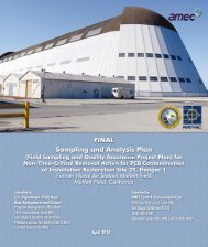 FINAL SAMPLING AND ANALYSIS PLAN - Documents for Moffett Field