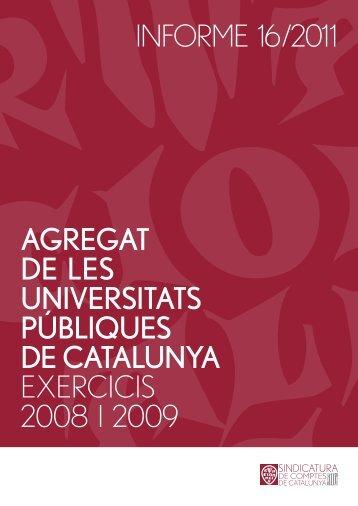 Informe 16/2011 - Sindicatura de Comptes
